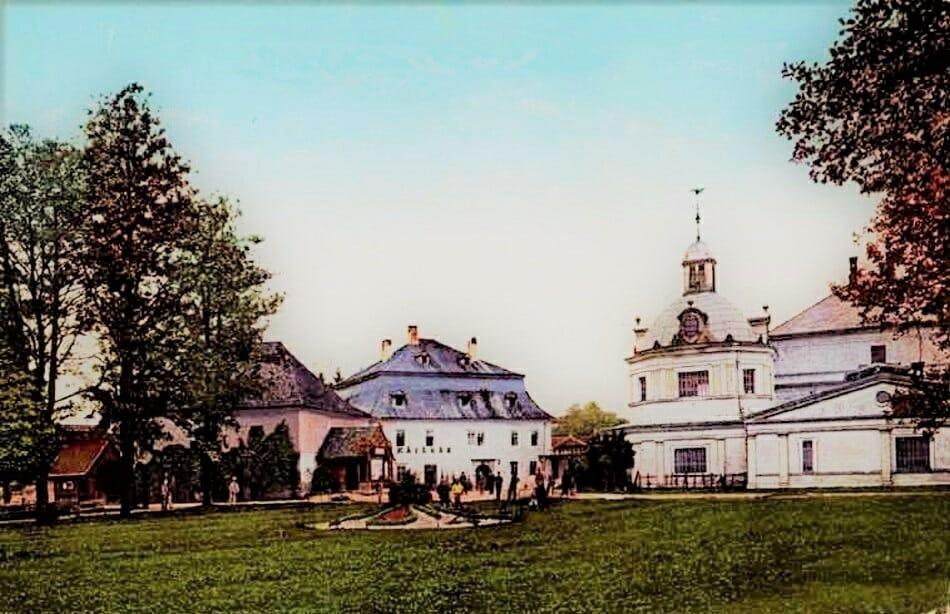 Turčianske Teplice (histor. názov Stubnya-Fürdo) na historickej fotografii