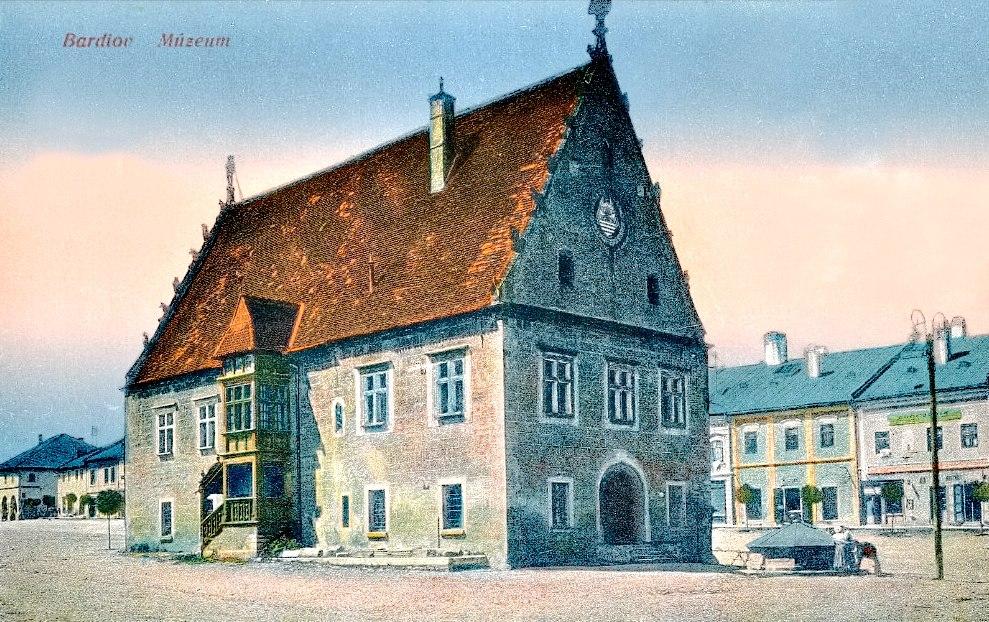 Šarišské múzeum v Bardejove na historickej pohľadnici
