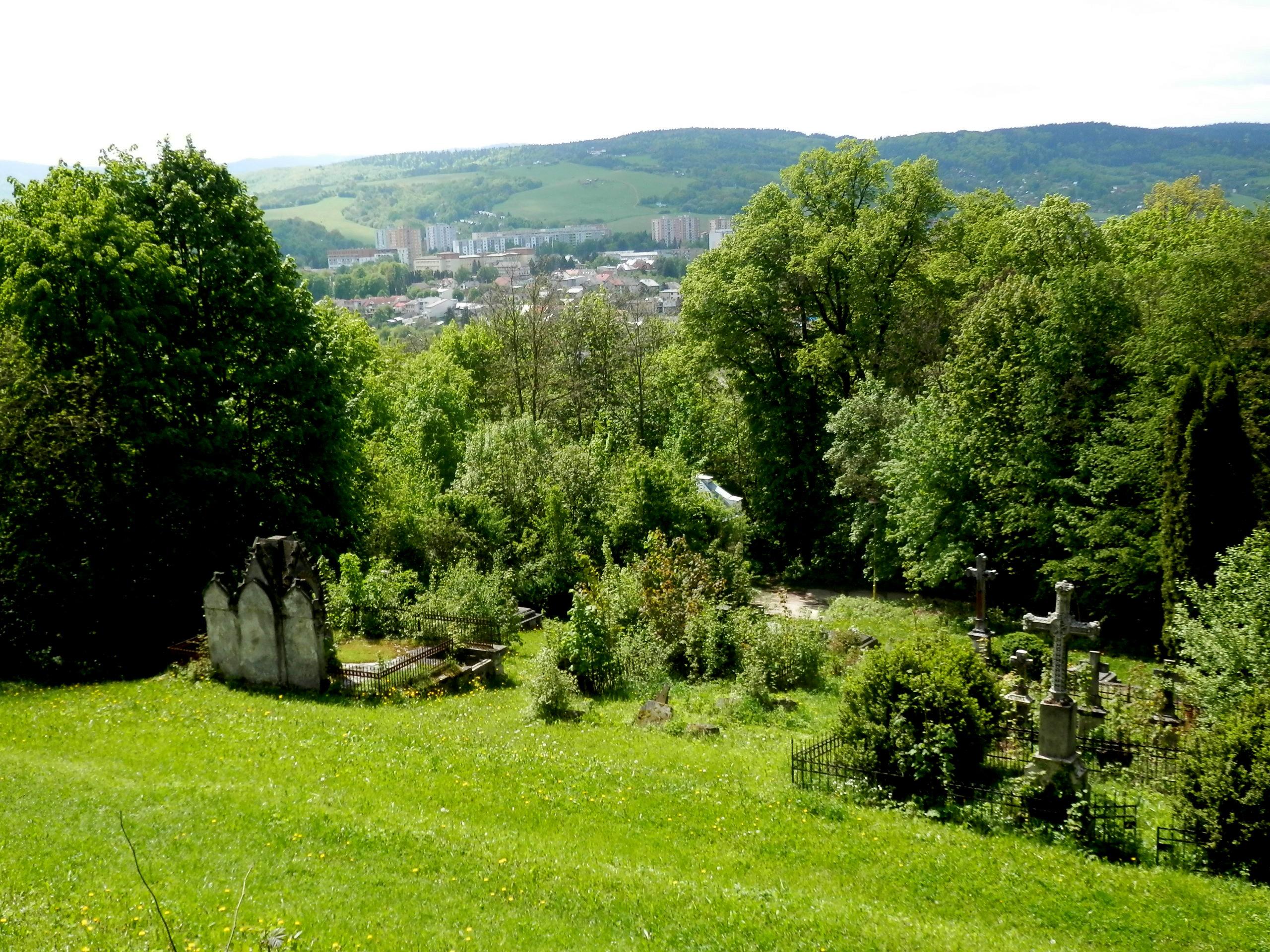 Pohľad na mesto z bardejovskej kalvárie
