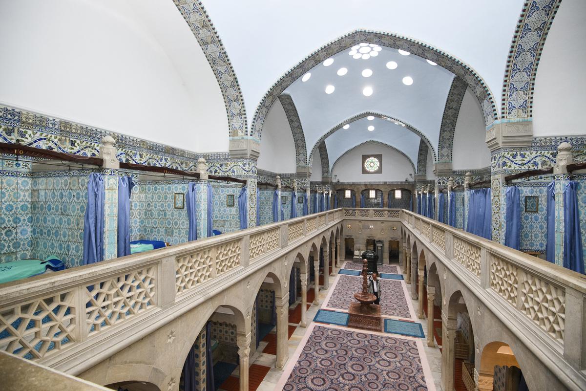 Pohľad z galérie v odpočivárni