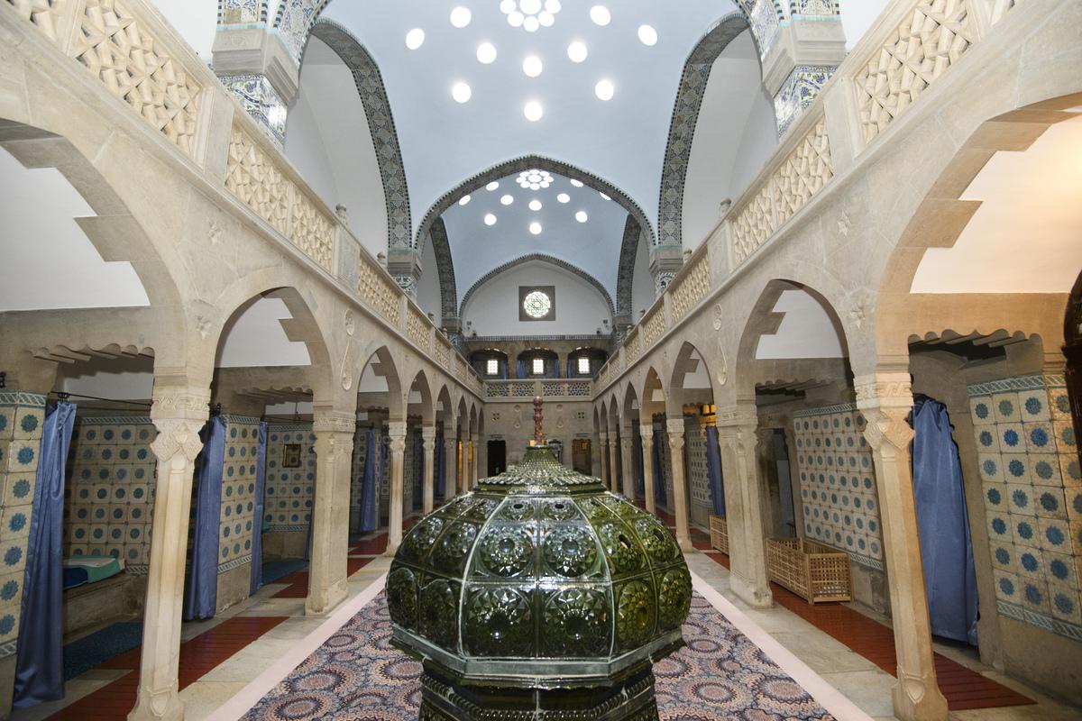 Interiér historickej odpočiváreň Hammam