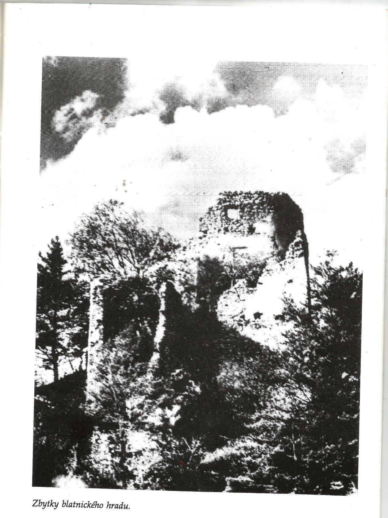 Dobová fotografia hradu Blatnica
