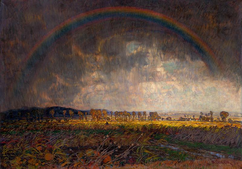 Olejomaľba na plátne, Po búrke, 1918