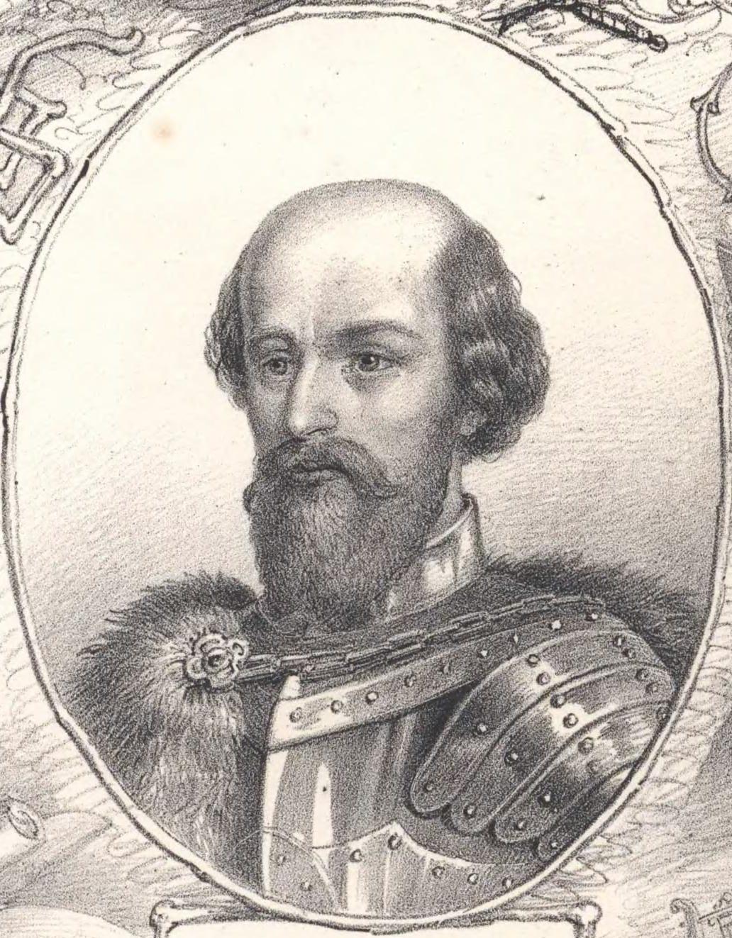 Portrét Matúša Čáka Trenčianskeho na kresbe z roku 1861
