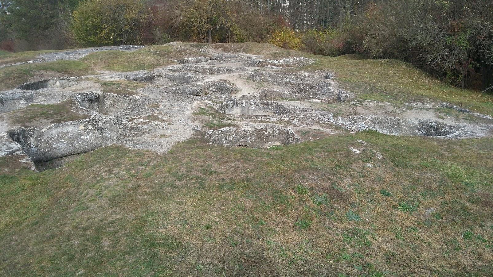 Rímske kúpele – posledná zastávka náučného chodníka Dudinské travertíny