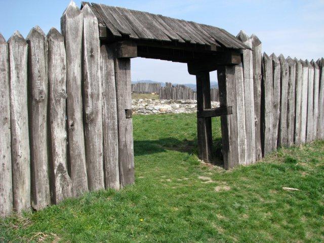 Pohľad na bránu opevnenia