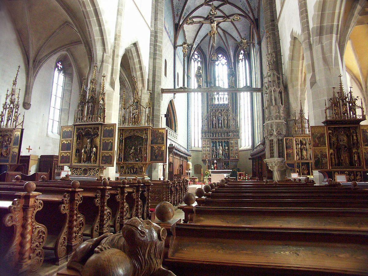 Bazilika sv. Egídia v Bardejove – interiér