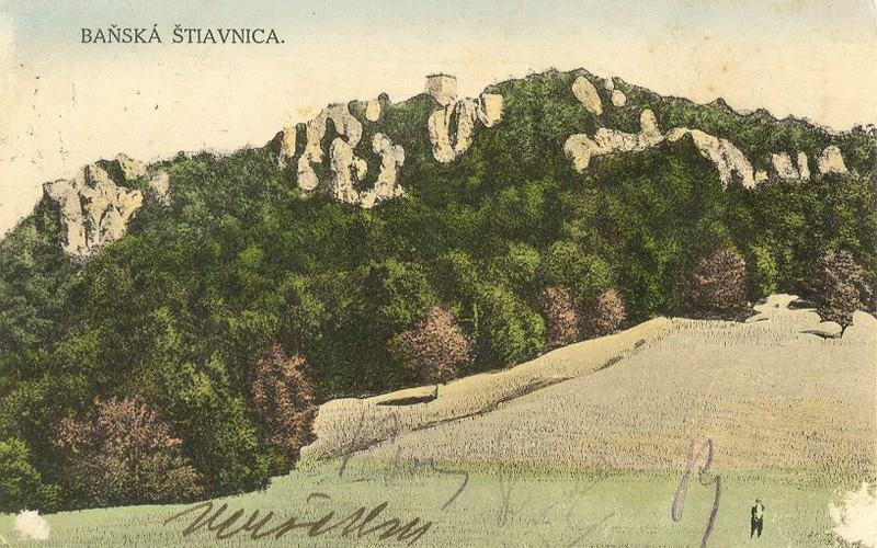 Hrad Sitno na pohľadnici