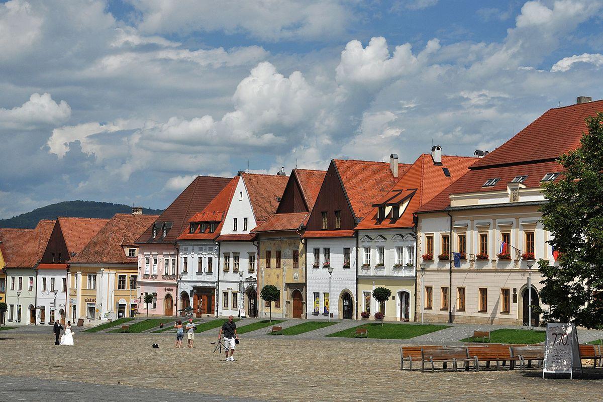 Radničné námestie v Bardejove – meštianske domy