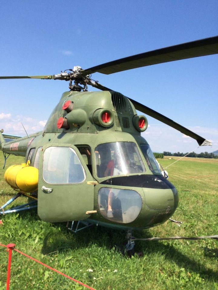 Vyslúžilá helikoptéra v leteckom múzeu