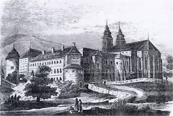 Dobová kresba kláštora