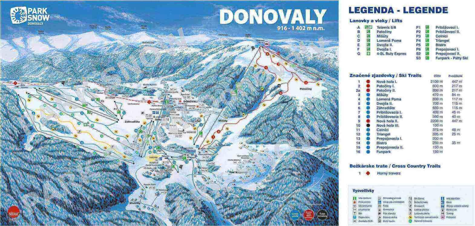 Trate a lanovky na Donovaloch