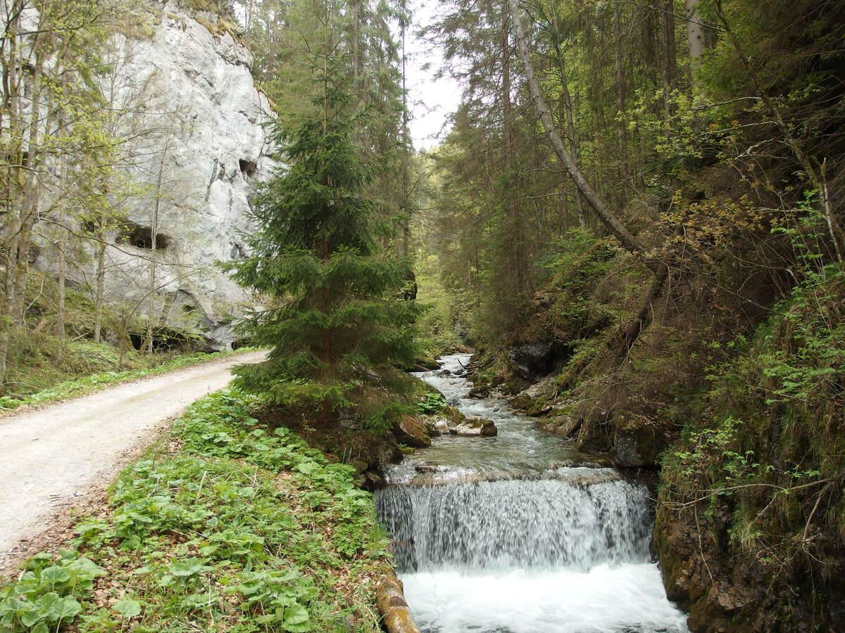 Kaskády potoka v Gaderskej doline