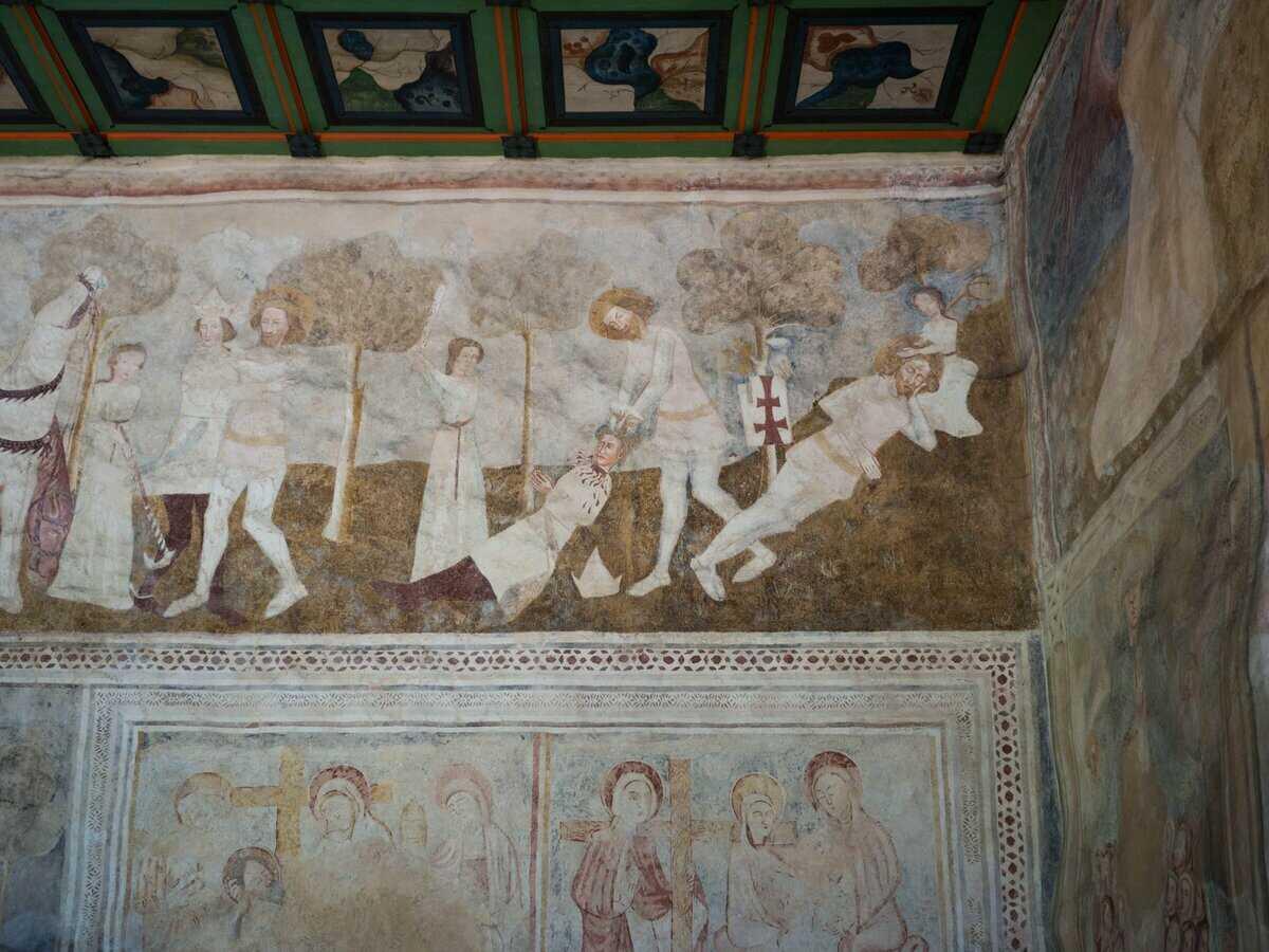 Legenda o Ladislavovi, autor fresiek pochádzal z Talianska, Kraskovo ev. kostol a.v.