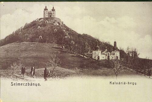 Kalvária v Banskej Štiavnici na historickej pohľadnici