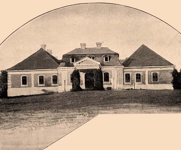 Kaštieľ v Želiezovciach na dobovej fotografii