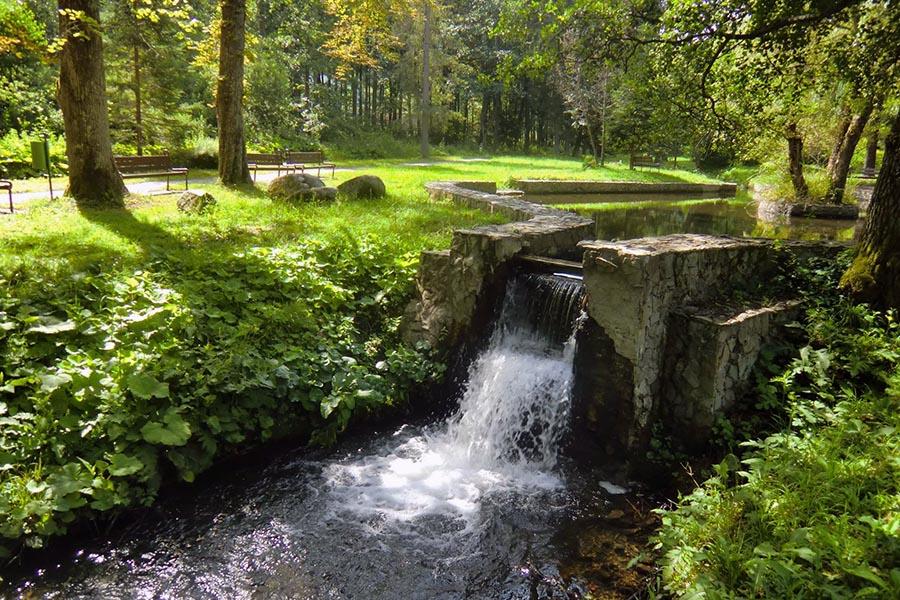 Kúpeľný park v Brusne