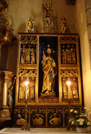 Oltár v Kostole sv. Mikuláša