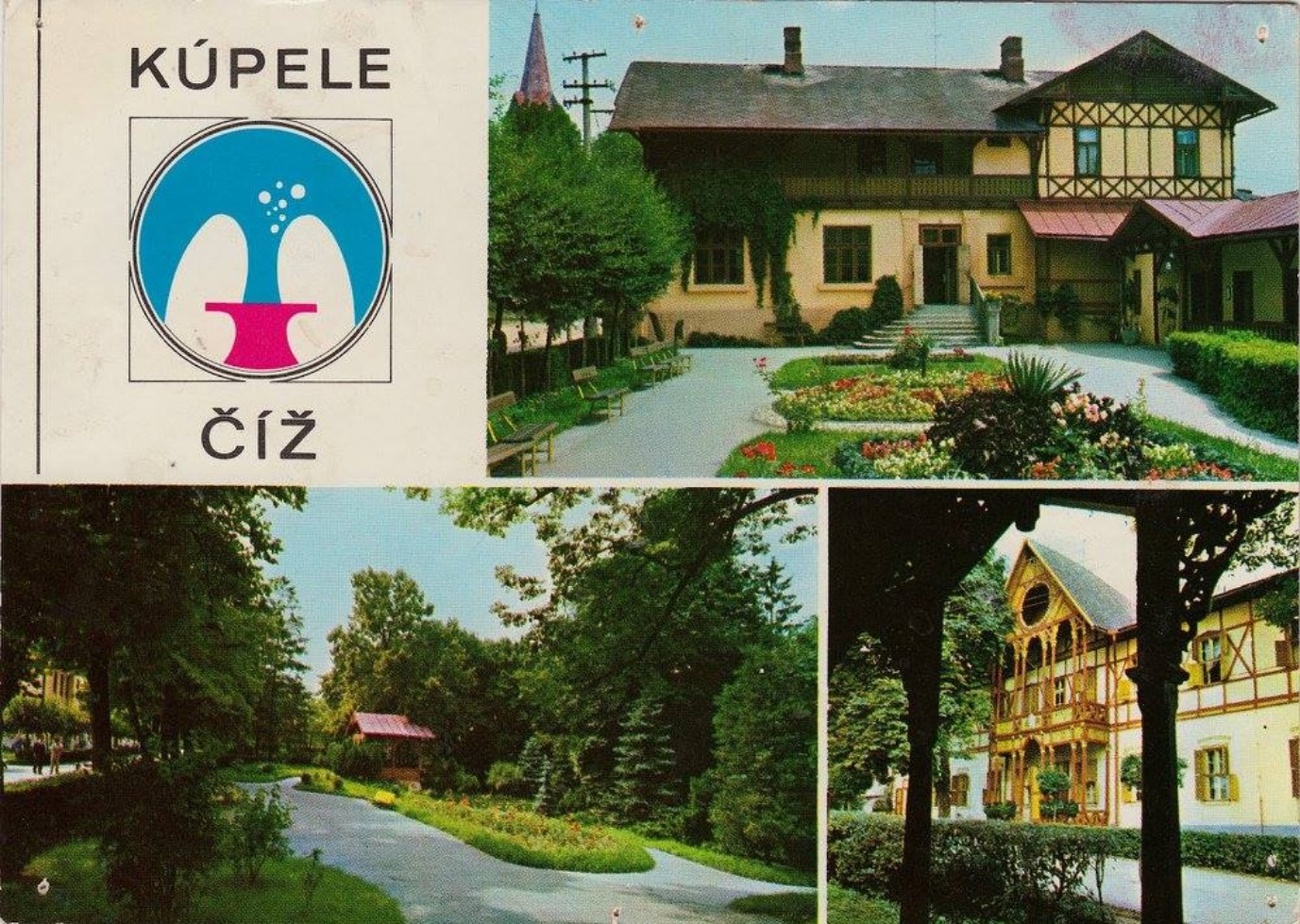 Pohľadnica z kúpeľov Číž