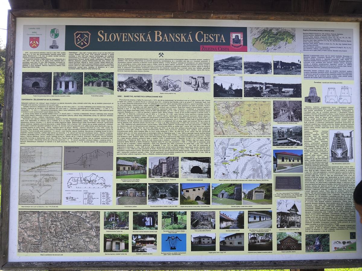 Informačná tabuľa Slovenská banská cesta
