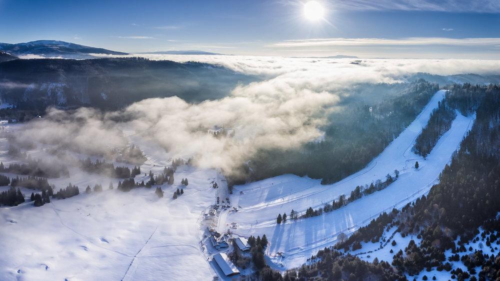 Ski Tále z vtáčej perspektívy