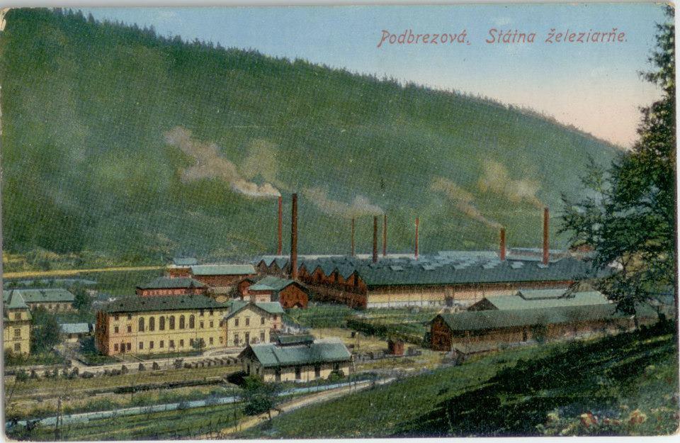 Železiarne Podbrezová na historickej pohľadnici