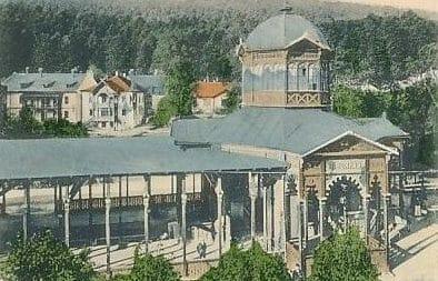 Historická fotografia bardejovskej kolonády