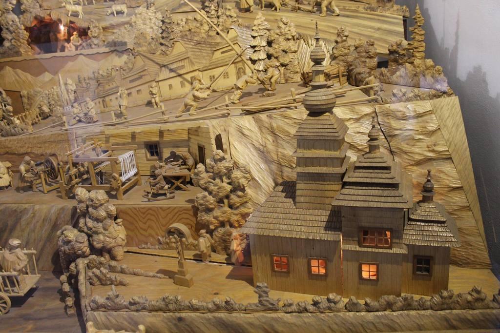 Vyobrazený drevený kostolík v Bardejove