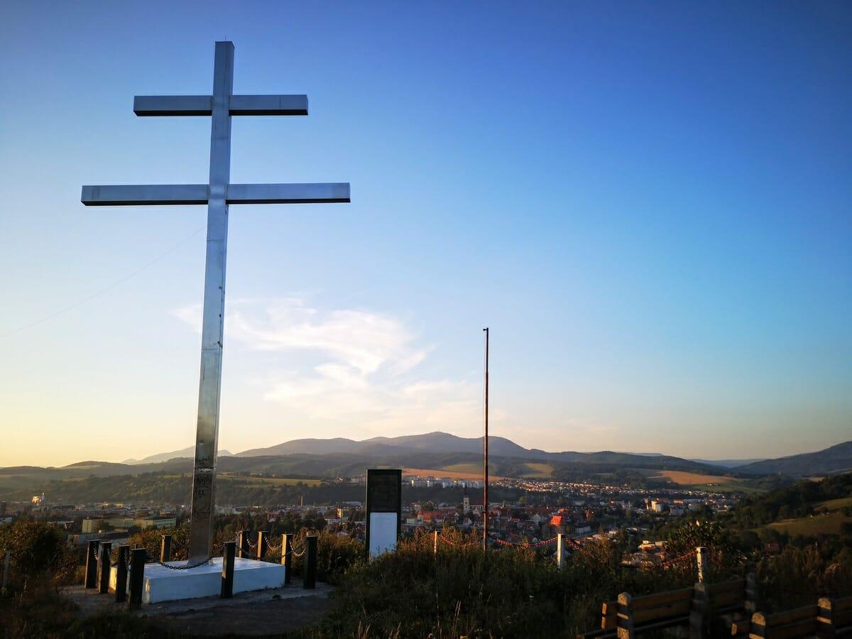 Výhľad na Bardejov od Cyrilometodského kríža