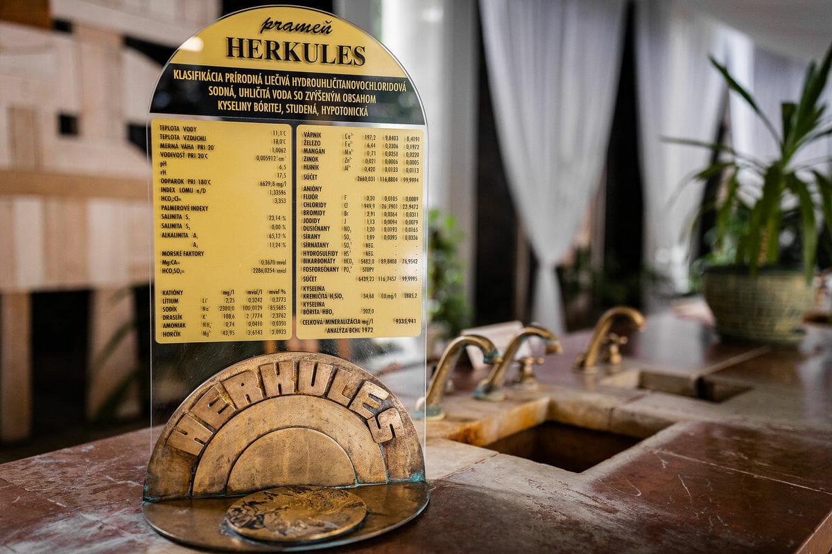 Prameň Herkules v Bardejovských kúpeľoch