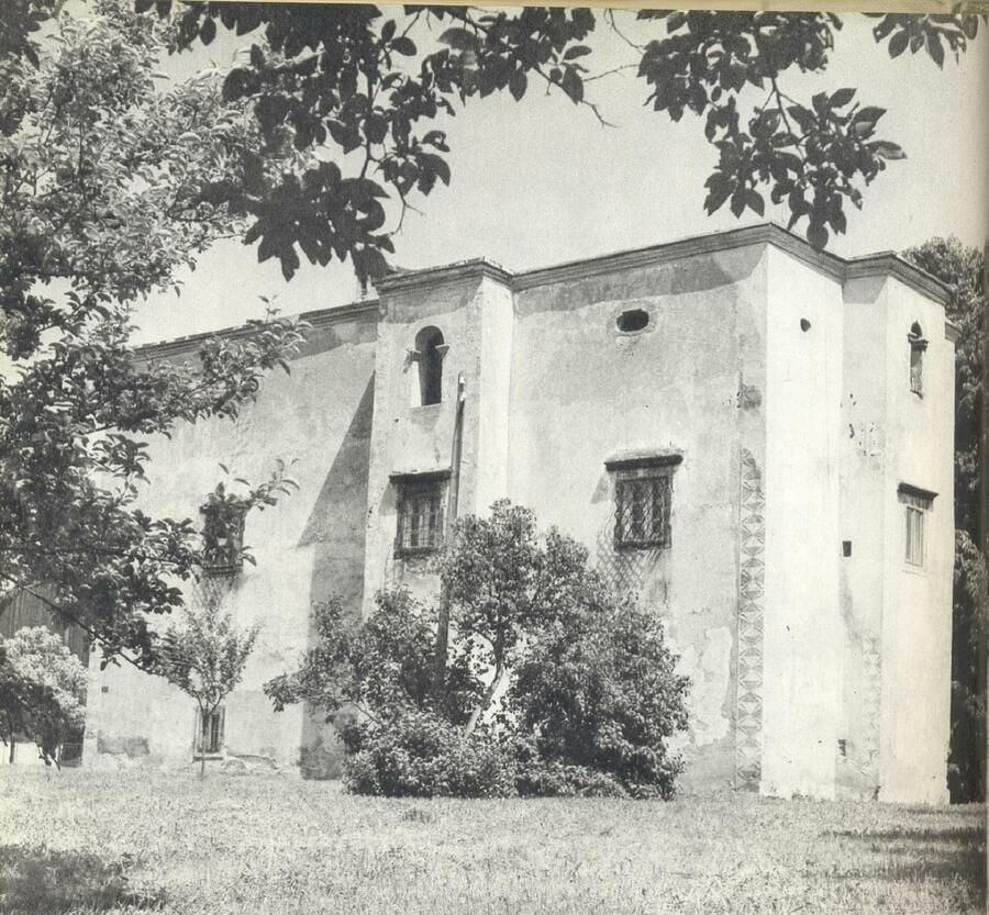 Historická fotografia kaštieľa rodu Bezeghovcov