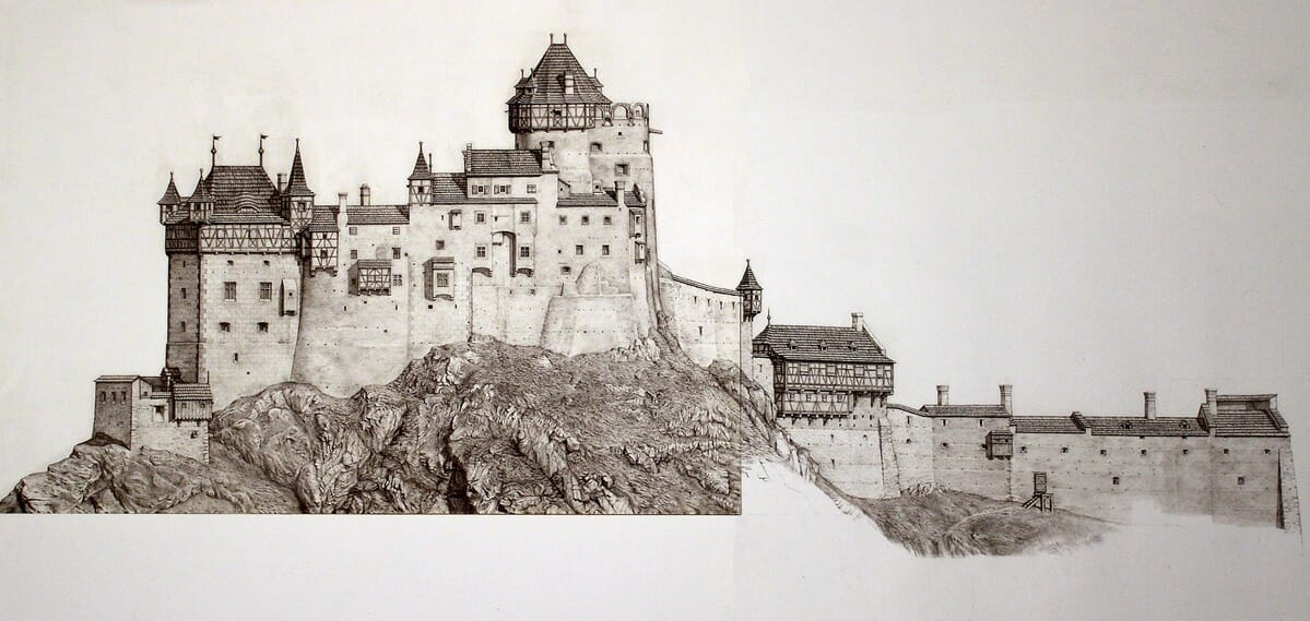 Nová rozpracovaná rekonštrukcia hradu od Jozefa Hochela