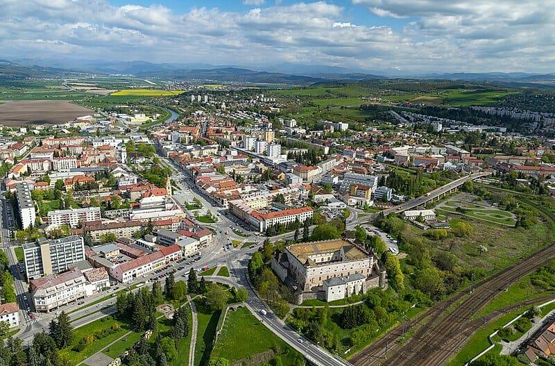 Poloha Zvolenského zámku v meste