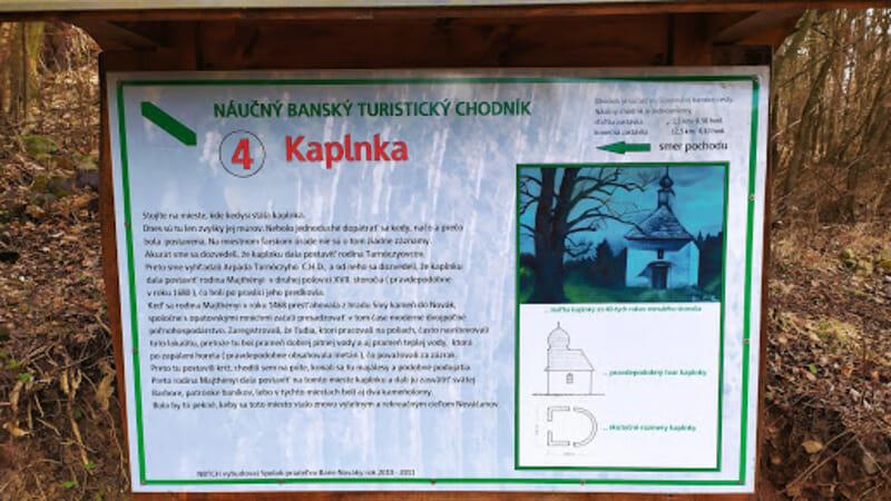 Náučný turistický chodník Nováky – informačná tabuľa o Kaplnke