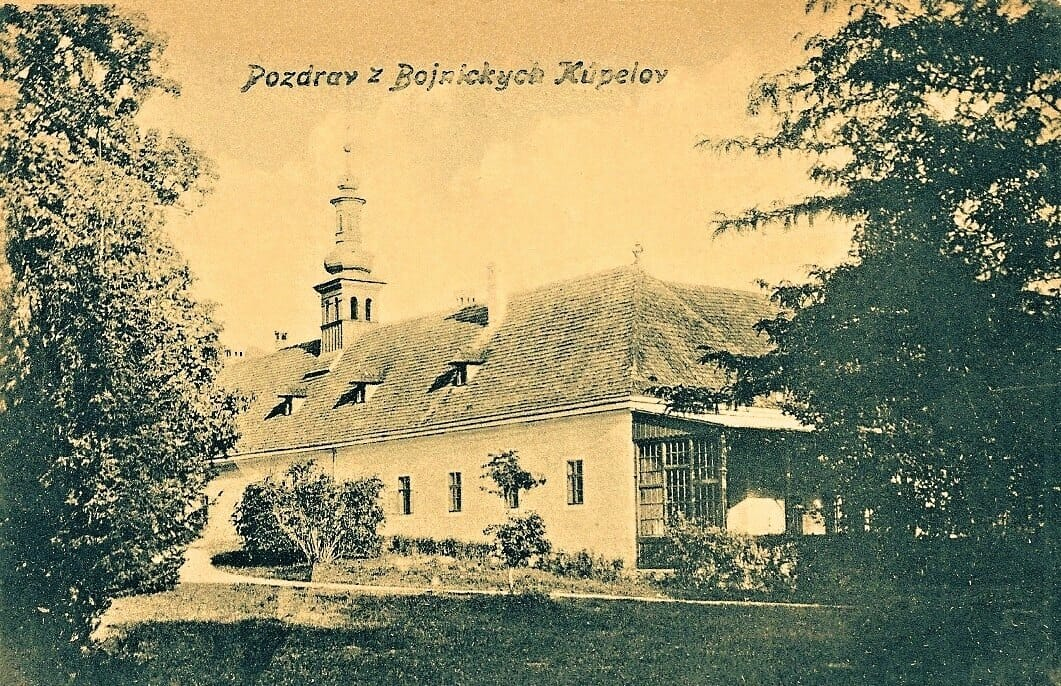 Bojnické kúpele na historickej pohľadnici