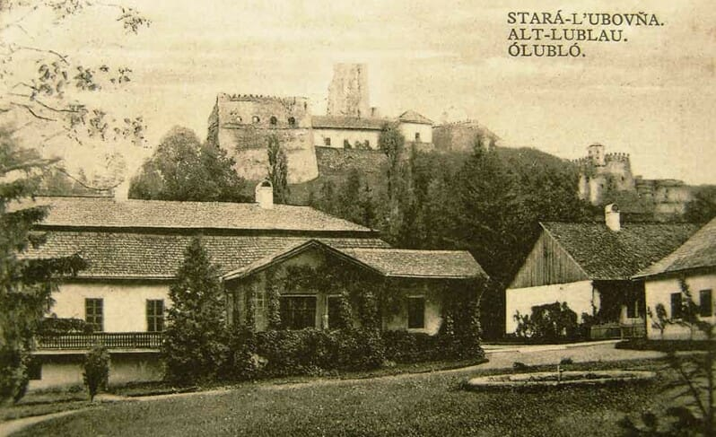 Ľubovniansky hrad na historickej fotografii