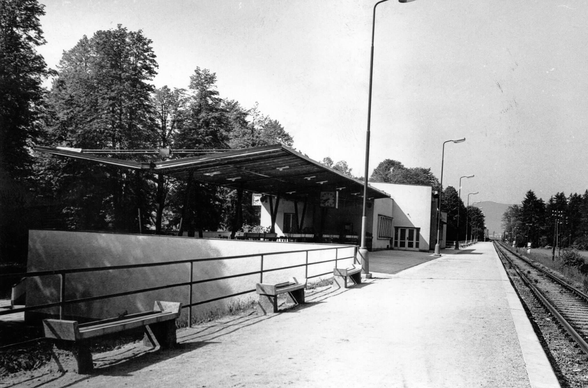 Historický záber na budovu múzea (železničnej stanice)