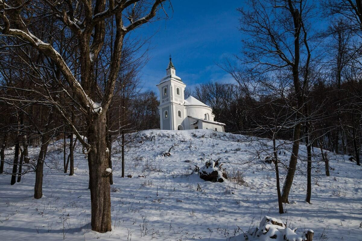 Rotunda sv. Juraja v zime