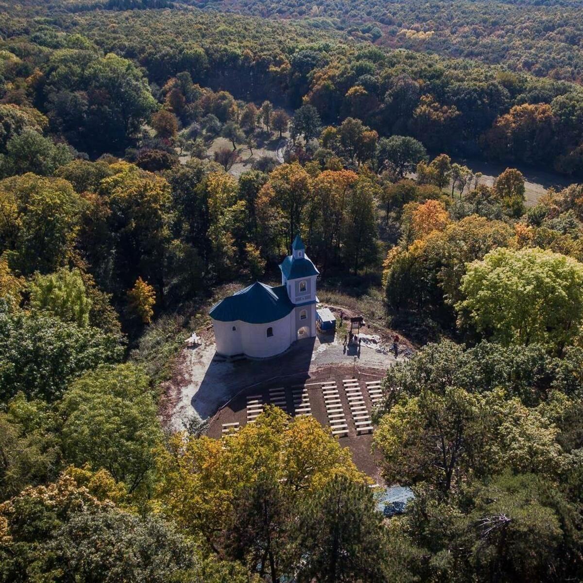 Rotunda sv. Juraja – letecký pohľad