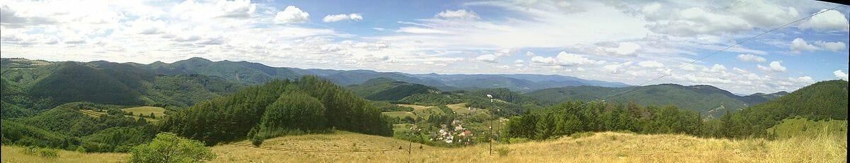 Panoráma Štiavnických vrchov