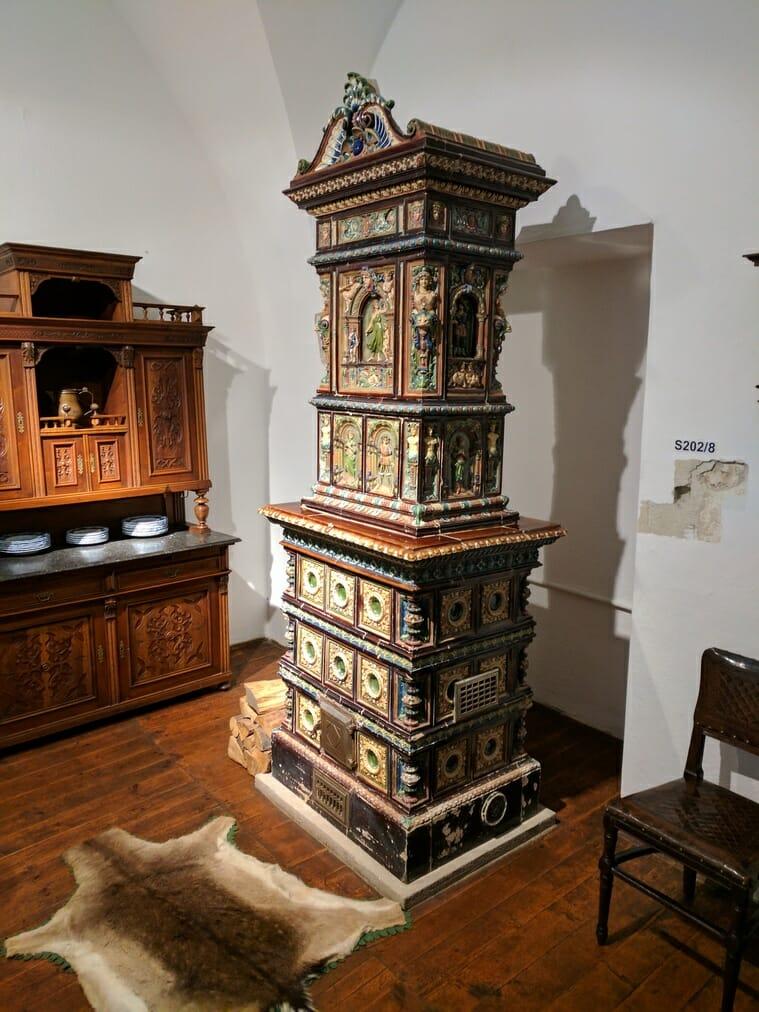Zachovalá pec v hrade Ľubovňa