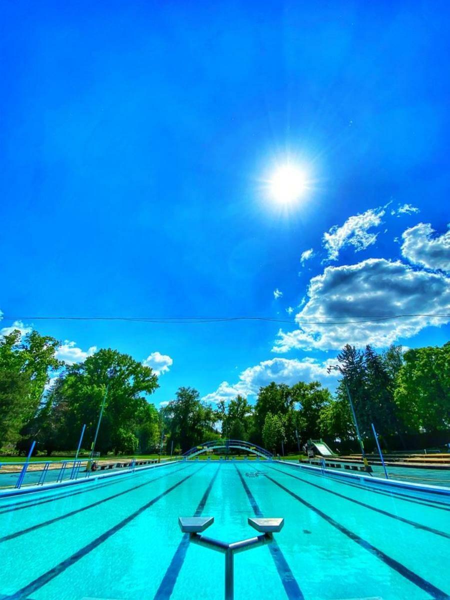 Pohľad na plavecký bazén vonkajší – Kúpalisko Eva Piešťany