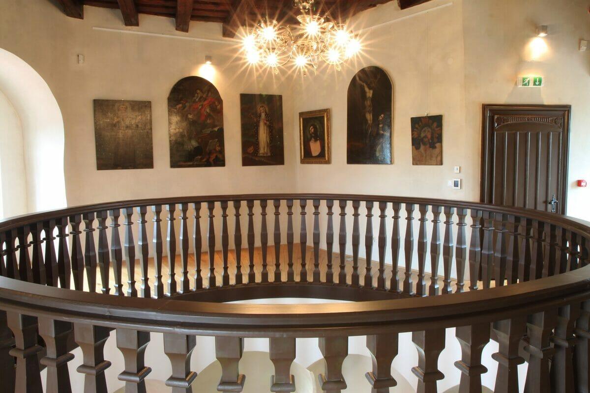 Obrazáreň vo veži Budatínskeho zámku
