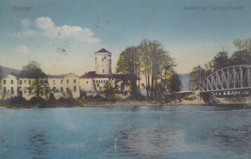 Budatínsky hrad na historickej fotografii