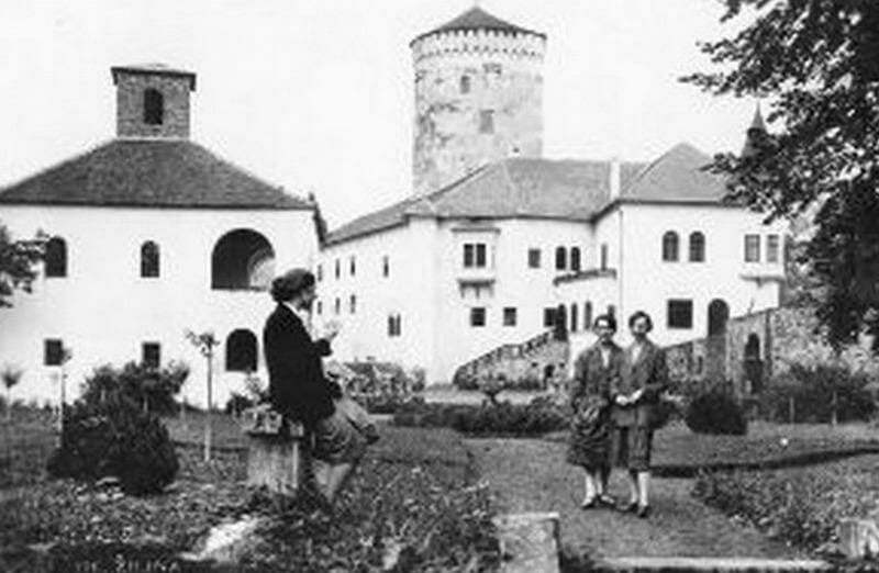 Historická fotografia Budatínskeho hradu