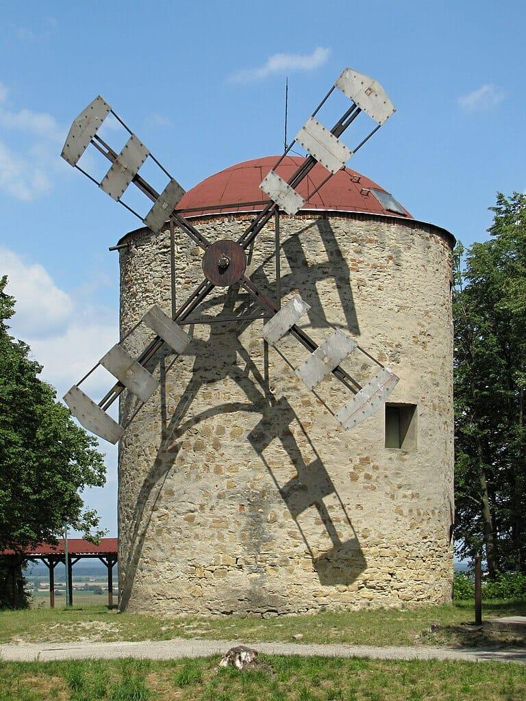 Veterný mlyn v Holíči z konca 19. storočia