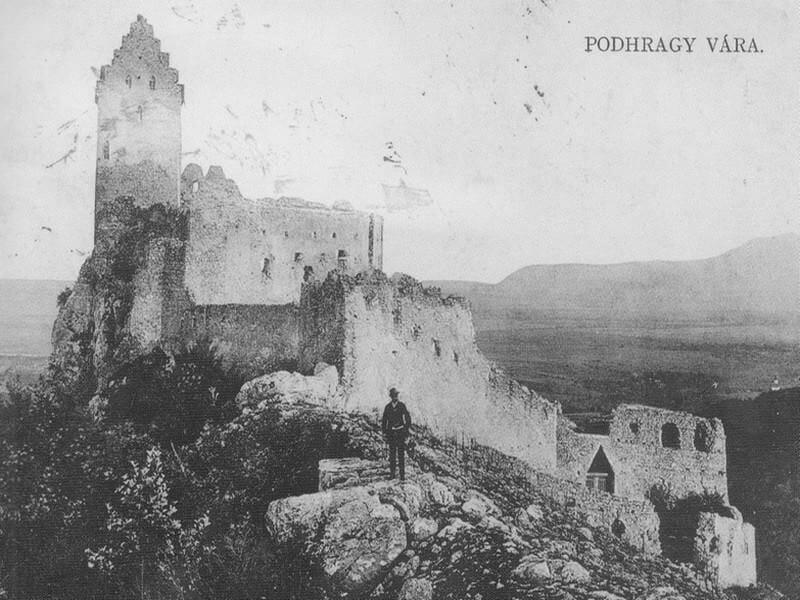 Topoľčiansky hrad na historickej fotografii