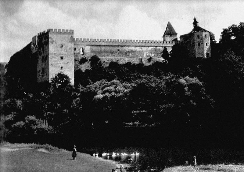 Vígľašský zámok, fotografia z roku 1972