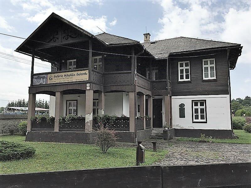 Rodný dom Mikuláša Galandu, v súčasnosti sídlo galérie
