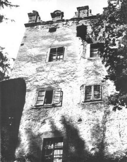 Historická fotografia kaštieľa Strážky